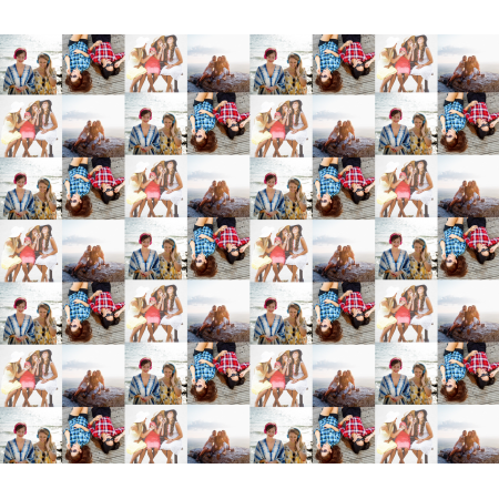 Personalised Wrapping Paper images 4 photos no gaps