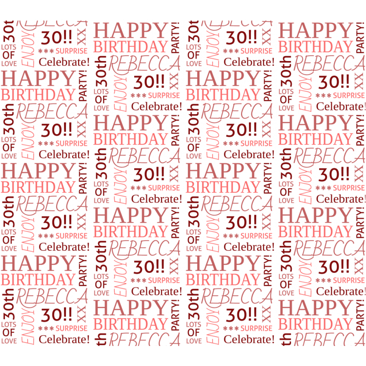 Personalised Wrapping Paper Birthday Age